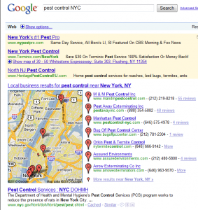 Image of a Google Maps exposure on Google.com.