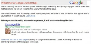 Google Authorship Status