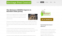 Inside page of Heritage Pest Control
