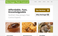Home page of the new Heritage Pest Control website.
