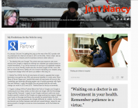 Screen shot of my Tumblr page.