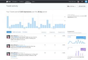 Screen shot of Twitter's new analytics tool.